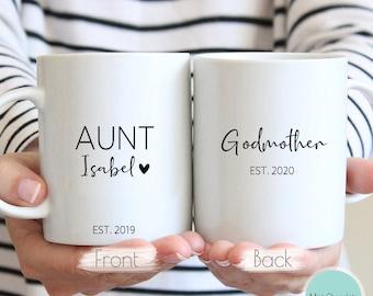 Aunt, Godmother - Custom Gift For Godmother, Thank you Godmother, Godparents Gift, Godmother Mug, Custom Mug For Godmother