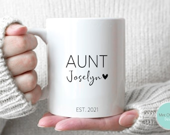 Aunt #3 - Pregnancy Announcement, New Aunt Mug, New Uncle Gift, Future Aunt Gift, New Baby Announcement, Aunt Mug, Aunt Gift, Aunt To Be