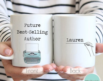 Future Best Selling Author #2 - Funny Writer Gift, Journalist Mug, Author Mug, Book Lover Gift, Future Author Gift, Gift For New Author