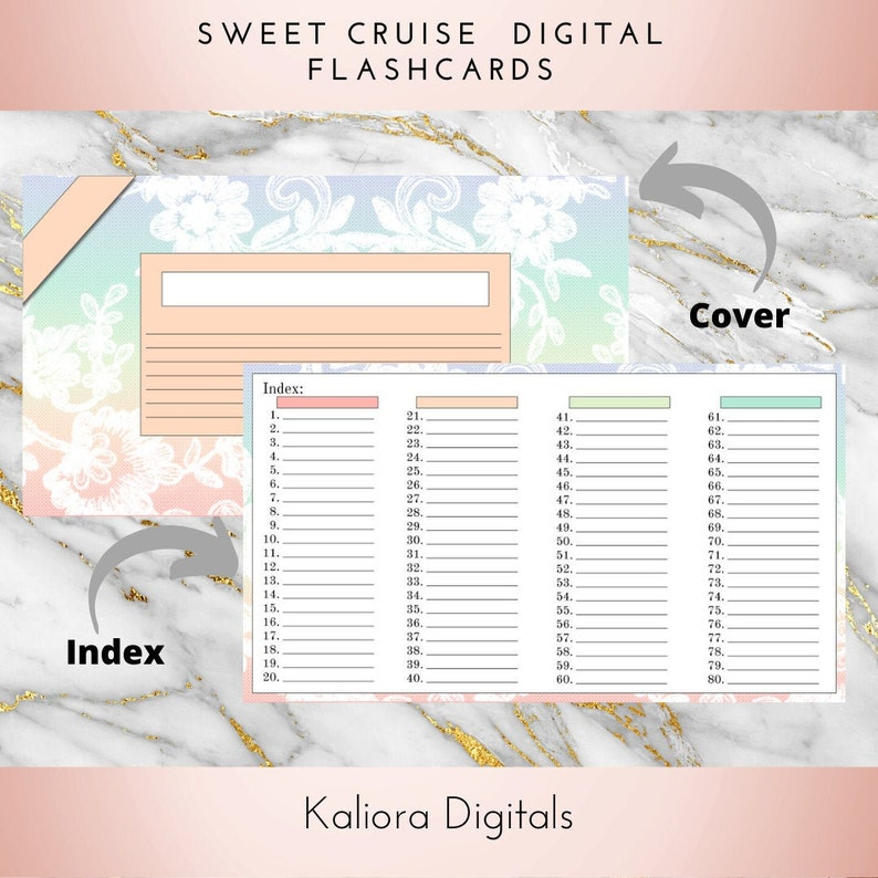 Sweet Cruise Digital Flashcards   Index Cards  Student Study image 0