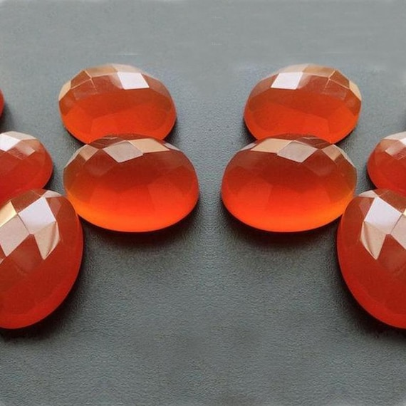 Details about  /TOP SALE! Great Lot Natural Red Onyx 8x8 mm Cushion Rose Cut Loose Gemstone