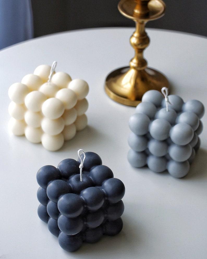 Bubble Cube candle Unique Gift Home Decor: Custom Scents image 0