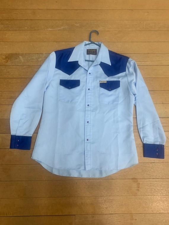 Cowboy Vintage 50s Mens Western Shirt Large. Baby