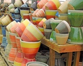 Ceramic stoneware pots containers gardens garden terracotta planters planter nursery plants flowers tubs glazes colours glaze clay orange