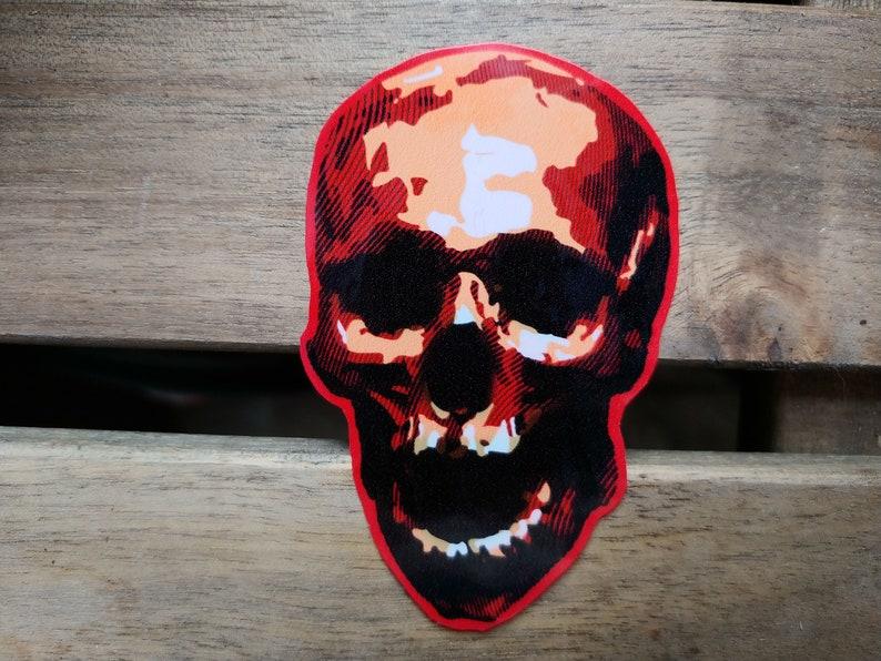 Zed The Dead Red Skeleton Head  Matte & Gloss Waterproof image 0