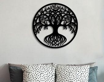 47 5 Large Metal Tree Metal Tree Wall Art Tree Decor Etsy