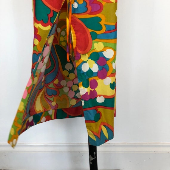 1960s Psychedelic Print Sleeveless Maxi Dress - image 6