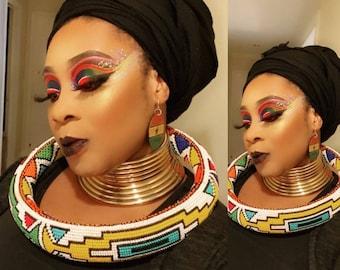 Ndebele Neckring | Isigolwani | Statement Necklace | Ndebele Hoop