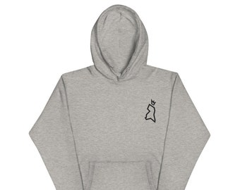 The County Stitched Hoodie - Black Logo