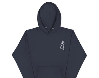The County Stitched Hoodie - White Logo