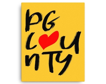 PG Love Canvas - Gold Background
