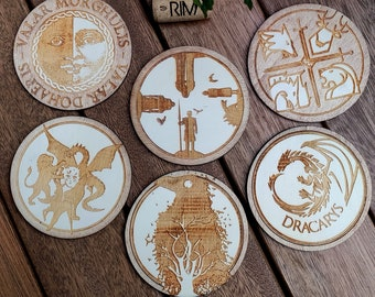 Game of Thrones Coasters Wood The Crow