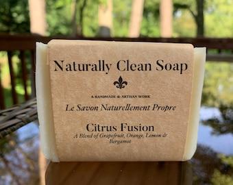 Citrus Fusion / Grapefruit Orange Lemon Bergamot Essential Oil Soap / Citrus Mix Soap / Handmade Cold Process Soap