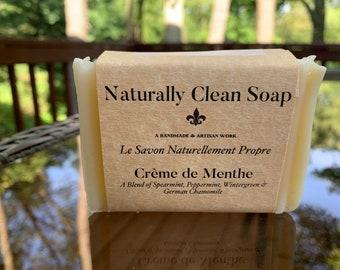 Crème de Menthe Soap / Spearmint Peppermint Wintergreen Essential Oil Soap / Super Minty Soap / Handmade Cold Process Soap
