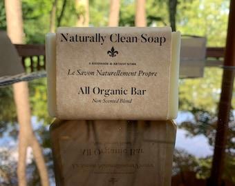 All Organic Soap / 100% Organic / No Essential Oils for Sensitive Skin / Handmade Cold Process Soap