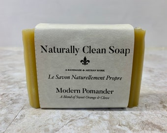 Modern Pomander / Clove Orange Essential Oil Soap / Energizing Blend Soap / Handmade Cold Process Soap