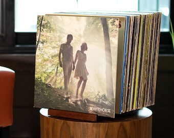 Countertop Vinyl Record Organizer AITEE Record Storage Holder 2-Packs Contanier 24 Records with Sticky Note. Acrylic Album Record Racks Display
