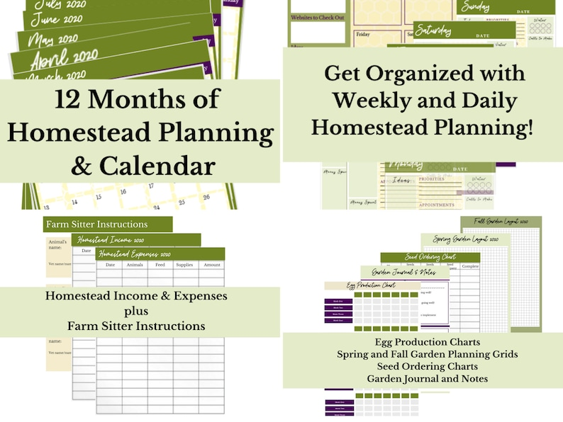 2020 Homesteading Planner and Calendar image 0