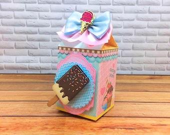 Ice Cream Theme Carton Party Favor Box. Ice Cream theme Treat Boxes. Ice Cream Party decor and gift boxes. Goodie bag, Ice cream social.