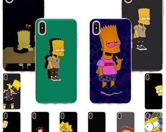 Simpsons Funny iPhone Case Homer Eating Apple iPhone 6/7/8/11/PRO