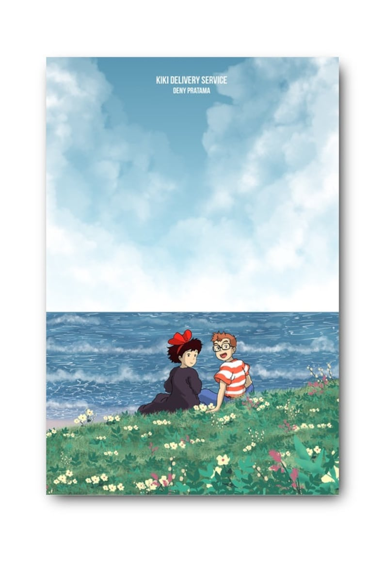 Kiki's Delivery Service Movie Canvas Poster Living Room image 2