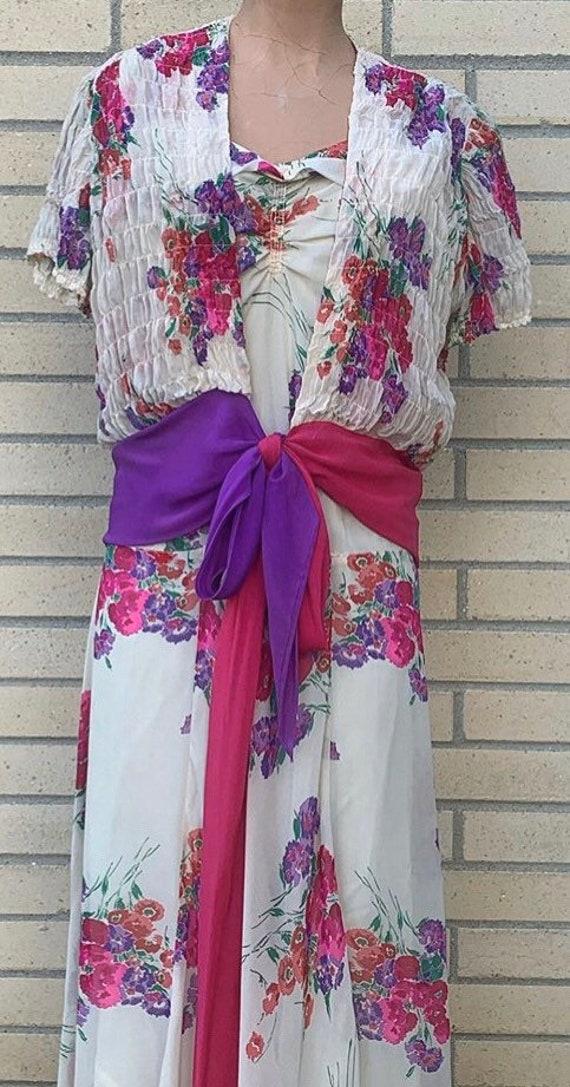 1930s Floral Dress Set