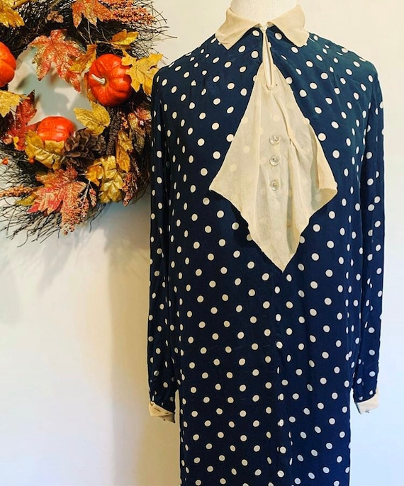 1920s Polka Dot Dress
