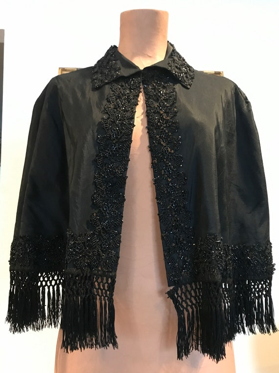 Authentic Victorian Evening Beaded Cape