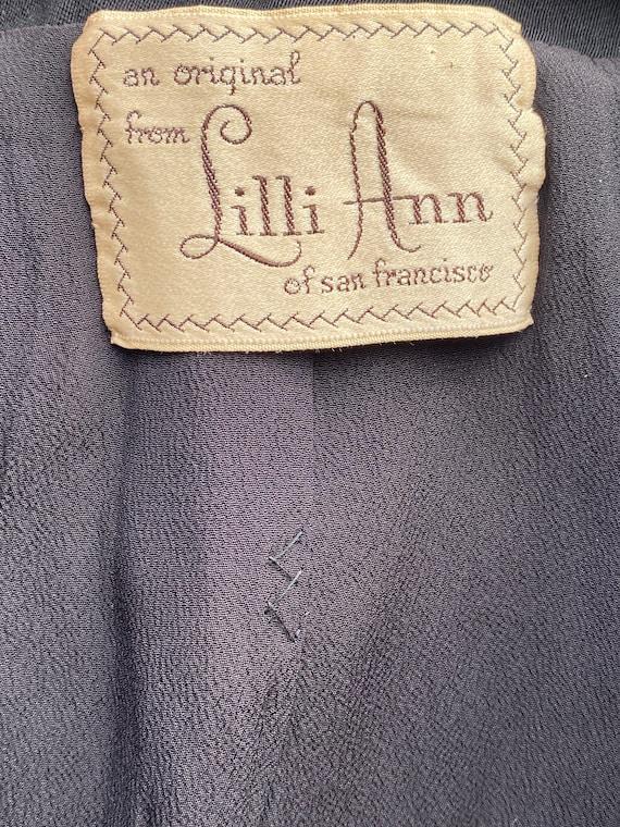 1940s Black Lilli Ann Ruched Blazer - image 9