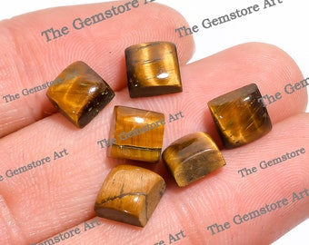 Awesome Tiger Eye square Shape Gemstone Cabochion cool looking Fantastic Quality Superb and Amazing cabochon 26x21x5 mm 36.05Cts