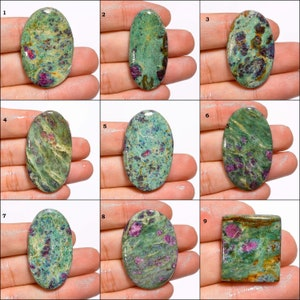 Natural Ruby Fuchsite Egg Shape Cabochon Loose Gemstone,61.00 Ct Ruby Fuchsite Gemstone,Top Quality For Making Jewelry DS-10324