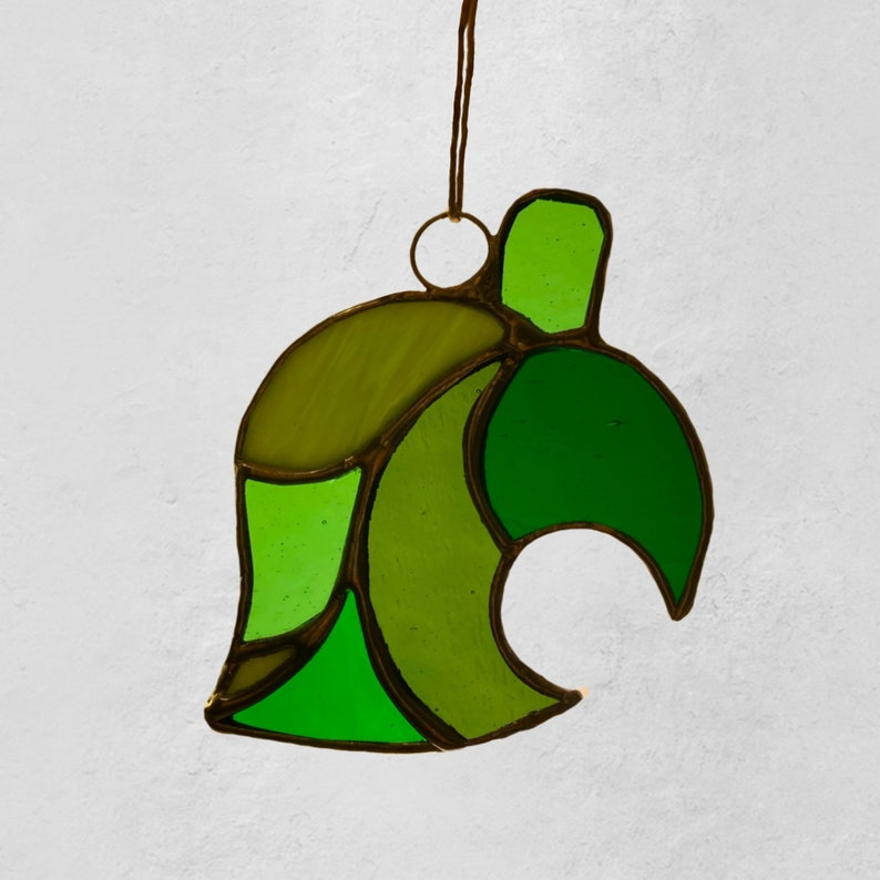 Animal Crossing Nook Leaf Stained Glass