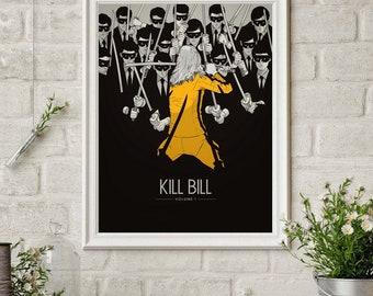 Kill Bill Uma Thurman Quentin Tarantino Classic Movie Poster Wall Decor X-645