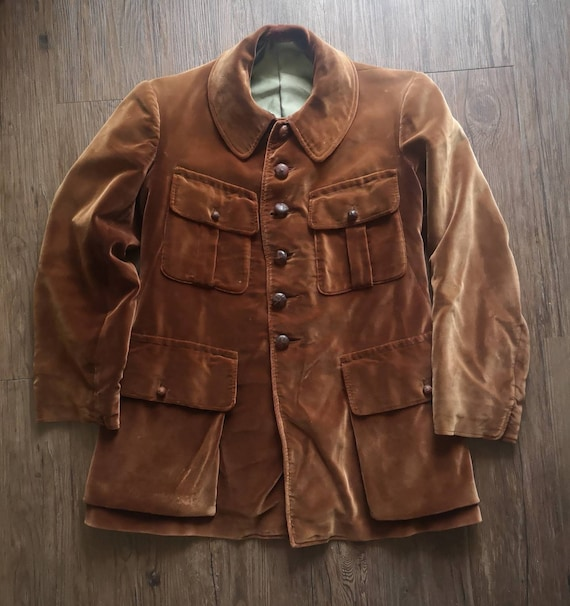 Circa 20s/30s French hunting jacket  beautiful Bro