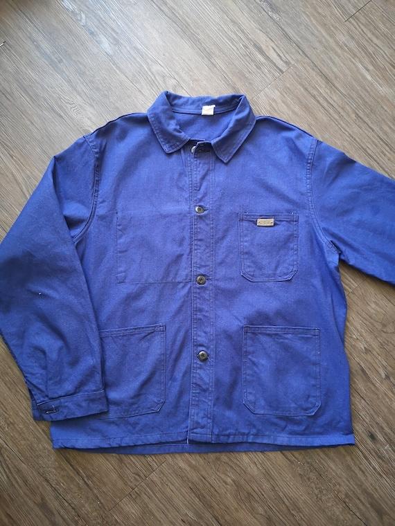french chore jacket indigo blue 60's