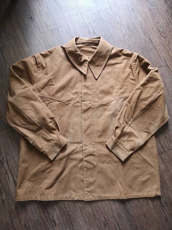 Og 40s 50s French Railroad rain chore jacket vinta