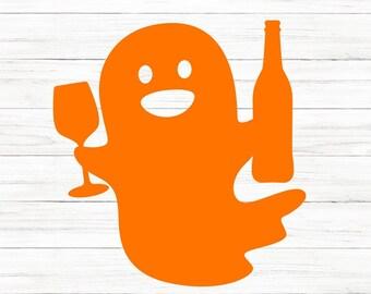 COMMERCIAL USE! Halloween SVG, Halloween Shirt Svg, Ghost Svg, Wine Svg, Halloween Shirt, Cricut File, Cricut