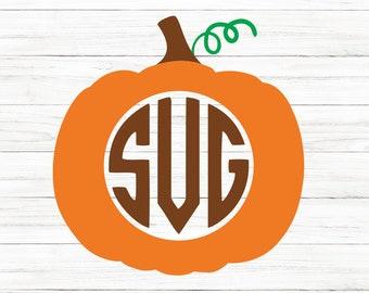 Pumpkin Monogram Svg, Thanksgiving Svg, Pumpkin Svg, Svg, Cricut,  Cut File, Clip Art, Printable For Crafters, Designers, Svg, Dxf, Png
