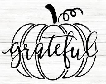 COMMERCIAL USE! Pumpkin Svg, Fall Svg, Grateful Svg, Thanksgiving Svg, Pumpkin Svg, Pumpkin Outline Svg, Fall Shirt Svg, Cricut File, SVG