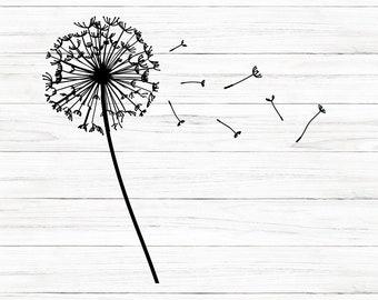 COMMERCIAL USE! Dandelion  Digital Download, Instant Download,  Dandelion, Svg, Flower Svg,  Cut File, Cricut, Instant Download