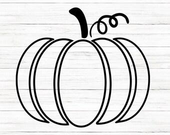 COMMERCIAL USE! Pumpkin Outline Svg, Thanksgiving Svg, Pumpkin Svg, Svg, Cricut,  Cut File, Clip Art, Printable For Crafters, Designers, Svg