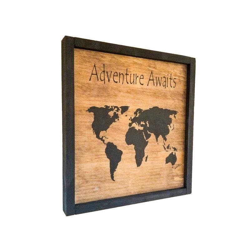 World Map Wall Art World Map Canvas Housewarming Gift Wood Sign Custom World Map Print World Map Poster World Map Art Map of the World