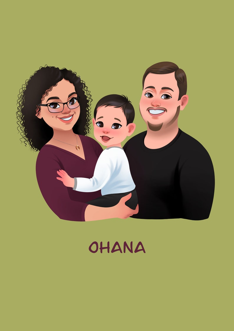 Christmas portrait Couple portrait Family portrait Gift for Christmas Christmas gift Couple Portrait Portrait from photo
