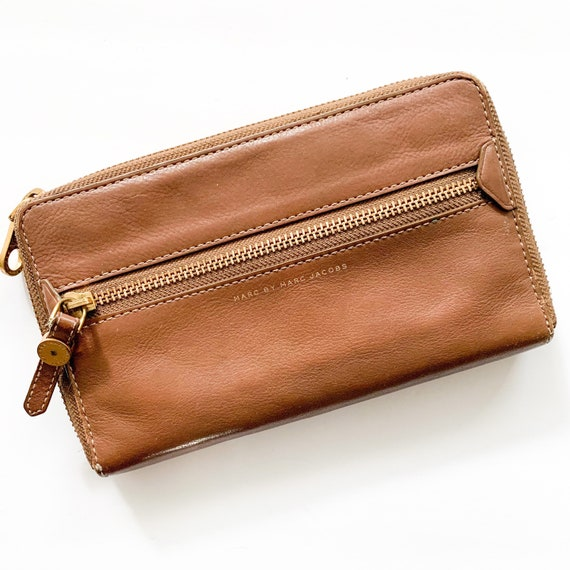 Marc Jacobs Leather Wallet | Cognac Leather Wallet