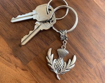 Scottish Celtic Thistle Keychain