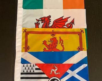 Celtic Garden Flags Saltire Scotland Ireland Wales
