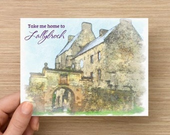 "Outlander Original Artwork Postcard ""Take Me Home to Lallybroch"""