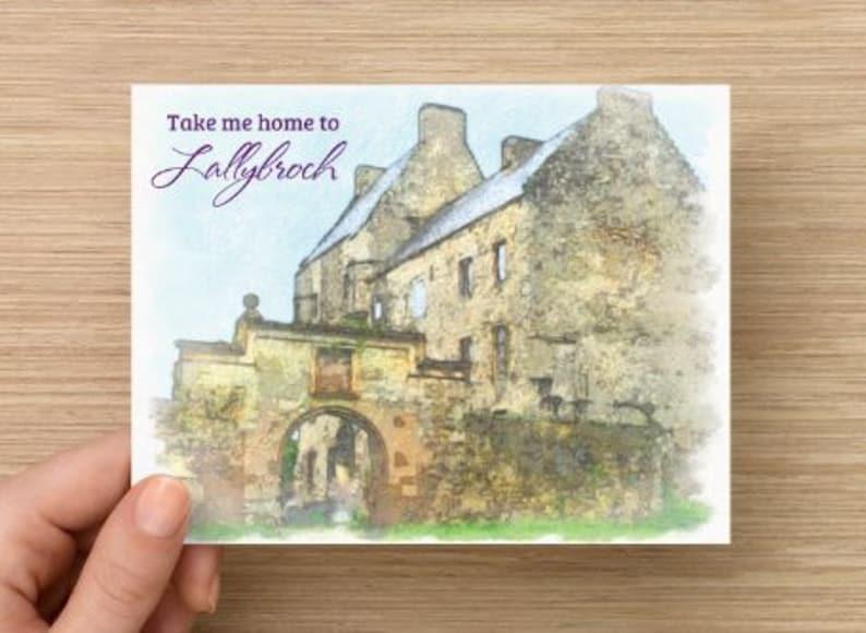 Outlander Original Artwork Postcard Take Me Home to image 0