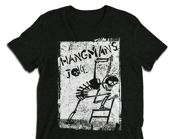 Hangman's Joke Charcoal-Black Vintage Style Graphic T Shirt - Unisex Tri-Blend T-Shirt | Bella + Canvas |