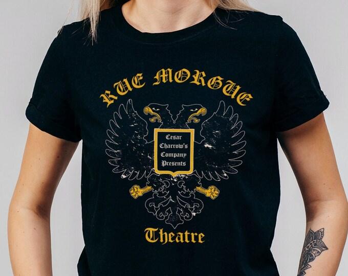 Rue Morgue Theatre Women's Black Gothic Graphic T Shirt